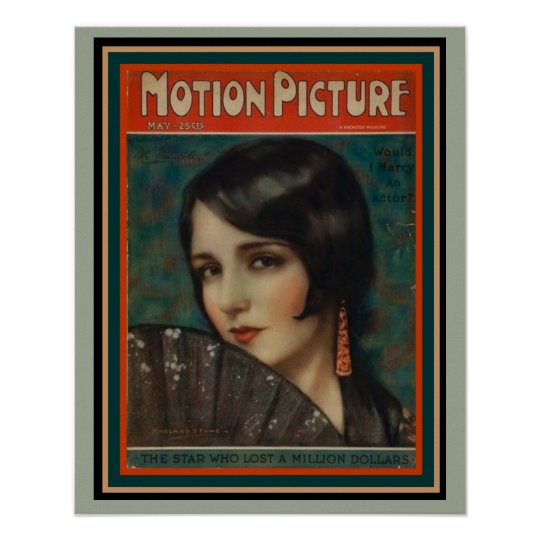 Art Deco Era Motion Picture Mag Poster 16