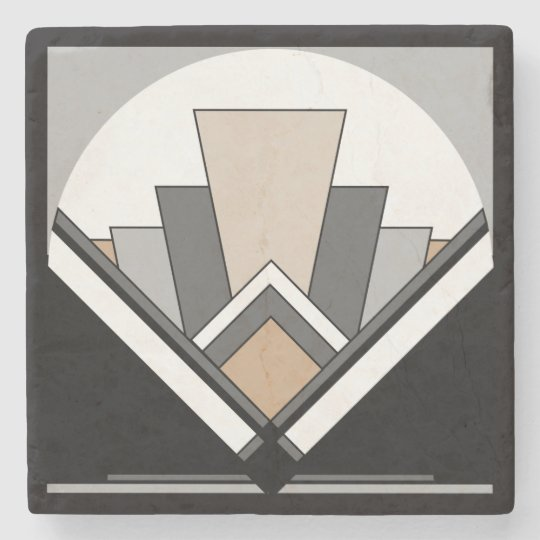 Art Deco Expression Stone Coaster