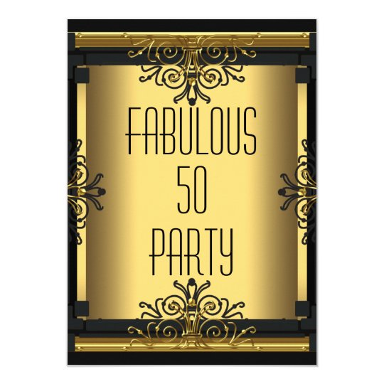 ART DECO Fabulous 50 50th Gatsby Birthday Party