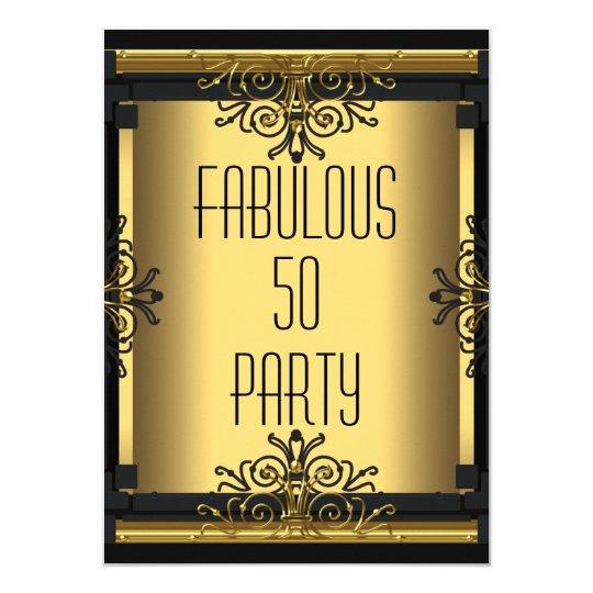 ART DECO Fabulous 50 50th Gatsby Birthday Party