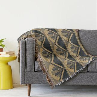 Art Deco Fan Blanket Throw