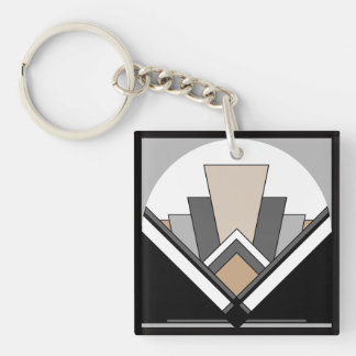 Art Deco Fan Expression Key Ring