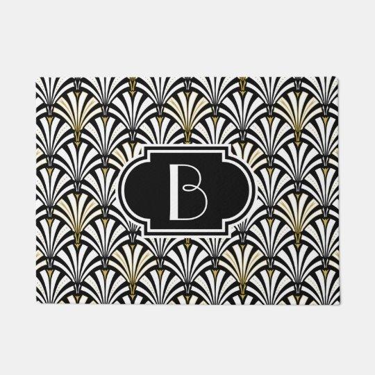 Art Deco fan pattern - black and white