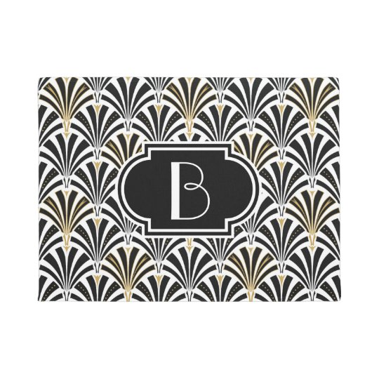 1920 S Art Deco Style Fan Pattern In Black Amp Gold Gift Box