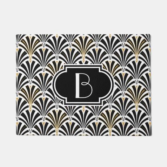 Art Deco fan pattern - black on white