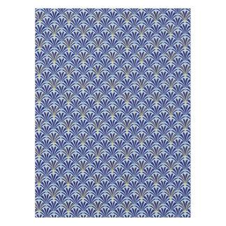 Art Deco fan pattern - cobalt and sky blue Tablecloth