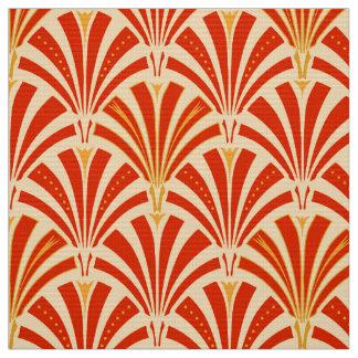 Art Deco fan pattern - mandarin orange