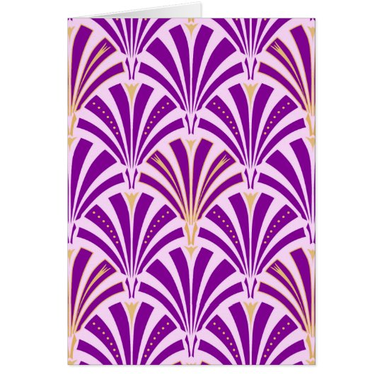 Art Deco fan pattern - purple and orchid