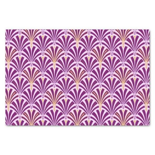 Art Deco fan pattern - purple and orchid