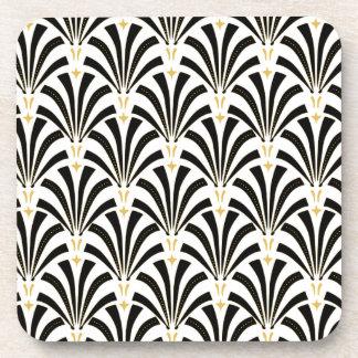 Art Deco Fans Custom Pattern Coasters