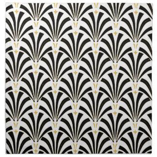 Art Deco Fans Custom Pattern Napkin