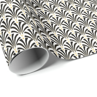 Art Deco Fans Custom Pattern Wrapping Paper