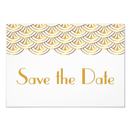 Art Deco Fans Gold Look Save the Date