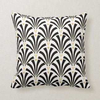 Art Deco Fans Pattern Throw Pillow