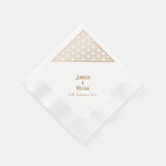 Art Deco Fans Wedding Reception Disposable Napkin