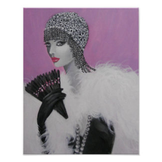 ART DECO FANTASY LADY POSTER
