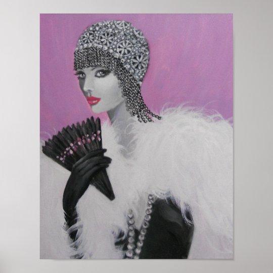 ART DECO FANTASY LADY POSTER