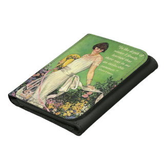 Art Deco Fashion: Motivational Winter Quote Leather Tri-fold Wallet