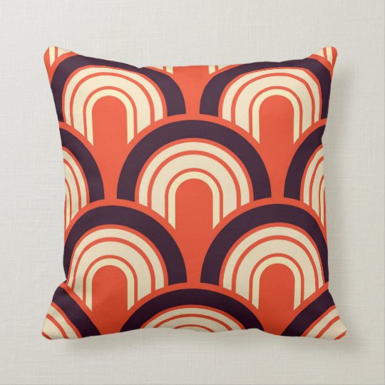 Art Deco Fifties Retro Abstract Art Cushion