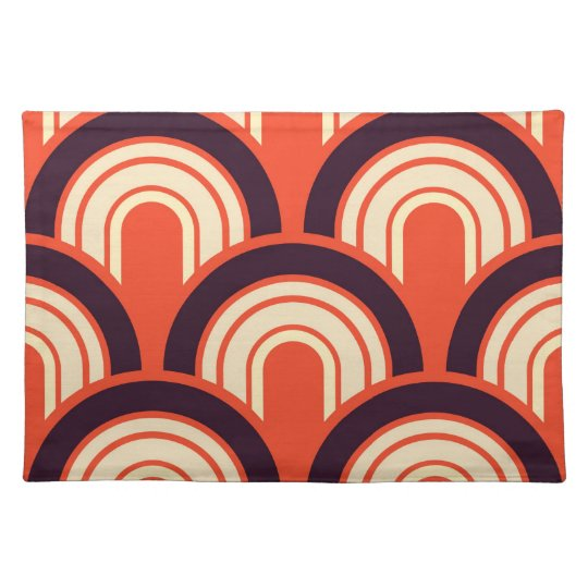 Art Deco Fifties Retro Abstract Art Placemat