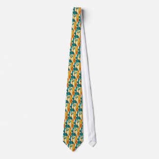 Art Deco Fifties, Striped Retro Abstract Art Tie