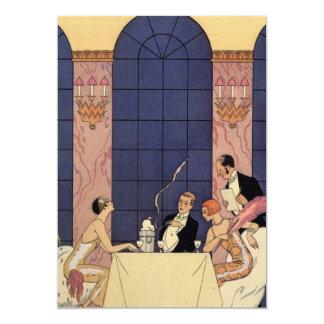 Art Deco Fine Dining 13 Cm X 18 Cm Invitation Card
