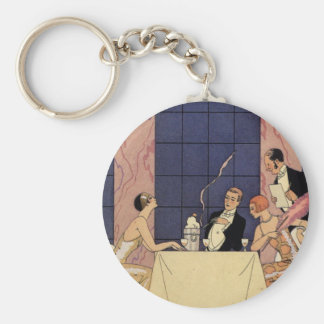 Art Deco Fine Dining Key Chain