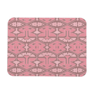 Art Deco Flair - All in Pink Rectangle Magnet