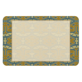 Art Deco Flair - First Variation Rectangle Magnet