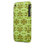 Art Deco Flair - In Green iPhone 3 Case-Mate Case