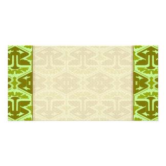 Art Deco Flair - In Green Photo Greeting Card