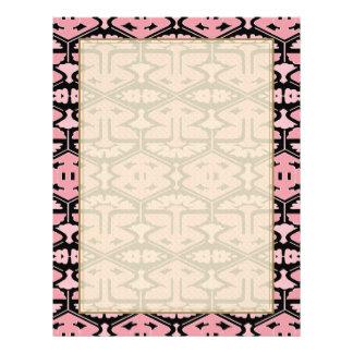 Art Deco Flair - Pink on Black 21.5 Cm X 28 Cm Flyer