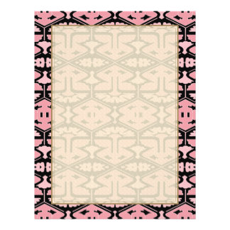 Art Deco Flair - Pink on Black 21.5 Cm X 28 Cm Flyer