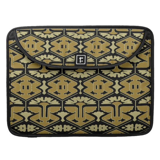 Art Deco Flair - Variation on Black MacBook Pro Sleeves