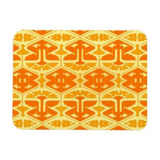 Art Deco Flair - Yellow and Orange Rectangular Magnets