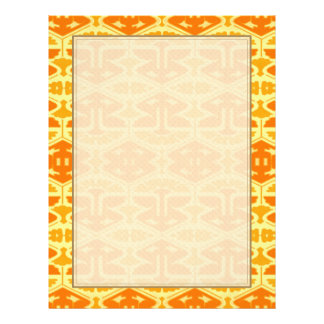 Art Deco Flair - Yellow and Orange 21.5 Cm X 28 Cm Flyer