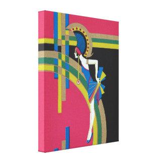 Art Deco Flapper Canvas