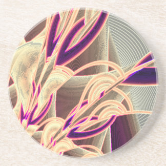 Art Deco Floral Coaster