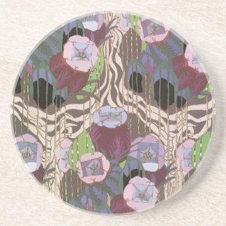 Art Deco Floral Drink Coasters