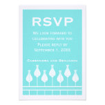 Art Deco Floral RSVP Card Personalized Invitations