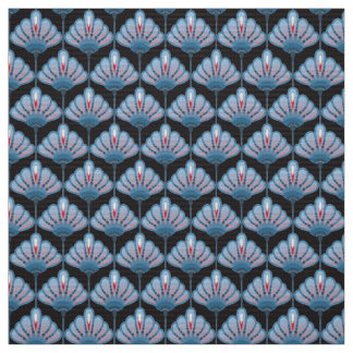 Art Deco Flower Lily Pattern DIY Fabric