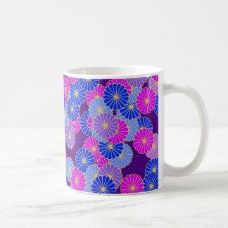 Art Deco flower pattern - violet, blue and purple Mug