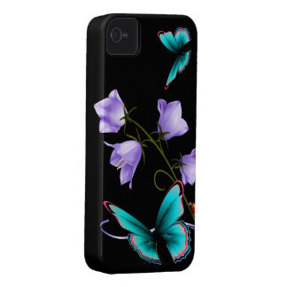 Art Deco Flowers and Butterfly iPhone 4 Cover