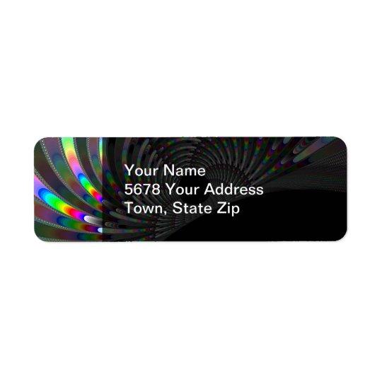 Art Deco Fractal Return Address Label