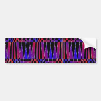 Art Deco 'Fractured' Bumper Sticker