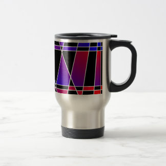 Art Deco 'Fractured' by Kenneth Yoncich Stainless Steel Travel Mug