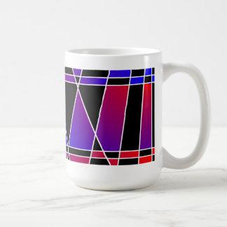 Art Deco 'Fractured' White Mug