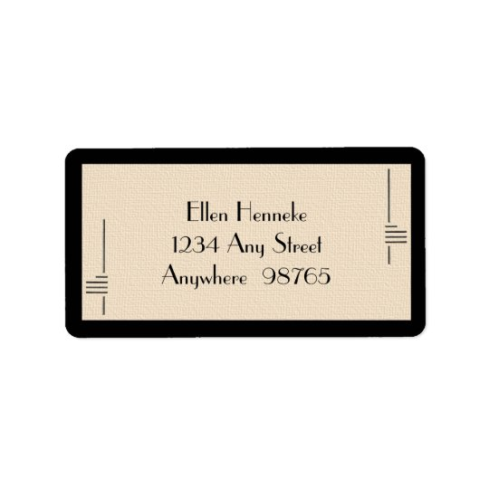 Art Deco Frame Address Label