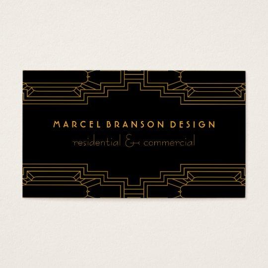 Art Deco Frame Gold on Custom Colour Black