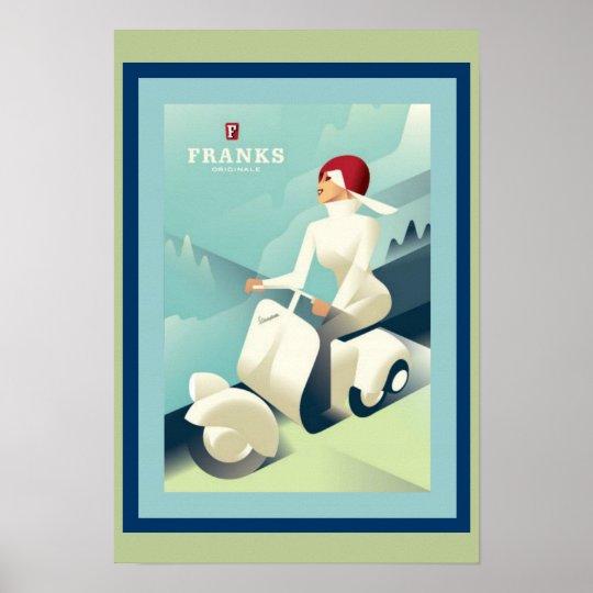 Art Deco Franks Ad Poster